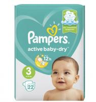 Подгузники Pampers Active Baby-Dry Midi 3 (6-10 кг)